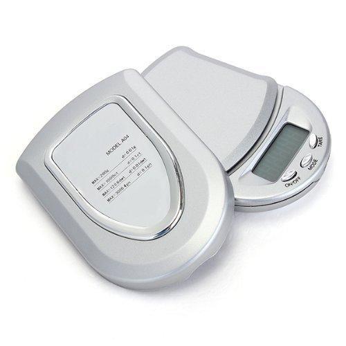 200G/0.01G Báscula Digital Precisión Balanza Joyería Portátil Color Plata