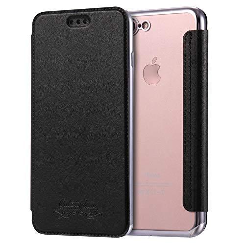 Sweau Coque Cuir iPhone XR, Etui iPhone XR, Housse Etui en Cuir Flip Case avec Fentes de Carte Ultra Mince Premium Flip Housse Coque Anti-Choc TPU Silicone Etui pour iPhone XR