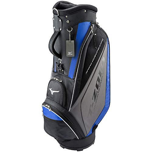 MIZUNO(ミズノ) ゴルフ キャディーバッグ T-ZOID ティーゾイド メンズ 軽量約2.7kg 9.5型(77cm)/47インチ対応/5分割 ブラック×ブルー 5LJC179300