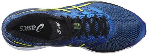 ASICS Men's Gel-Cumulus 18 Running Shoe, Imperial/Safety Yellow/Black, 6 M US