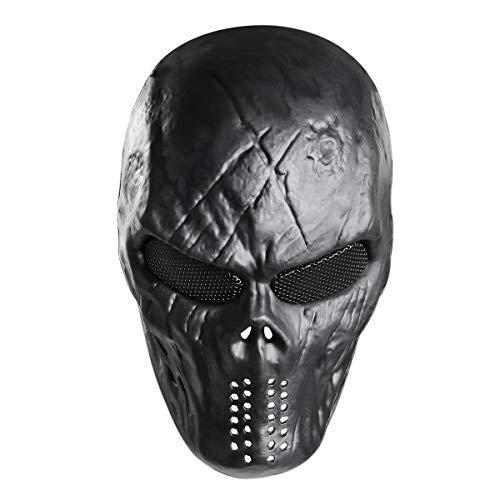Toyvian Totenkopf Vollgesichtsmaske Halloween Skelett Maske Cosplay Kostüm