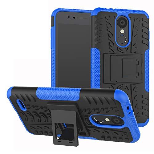 Labanema LG K8 / LG K9 2018 Custodia, Kickstand Dual Layer Ibrida Rigida Morbido Armatura Resistente agli Urti con Supporto e asportabile di Protezione per LG K8 / LG K9 2018-Blu