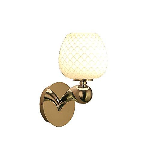Magfylydl Moderne eenvoudige ijzer-kunst-wandlamp, slaapkamer-nachtkastje, balkon-glazen wandverlichting, lamp, continentale woonkamer, trap, wand-berglicht