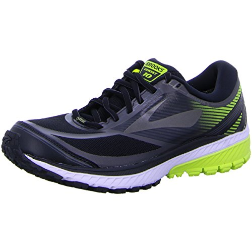 Brooks Men's Ghost 10 Gtx Running Shoes, Black (Black/Ebony/Limepopsicle 1d078), 7.5 UK (42 EU)