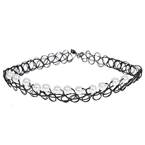 JUSTFOX - Tattoo Halsband mit Perlen