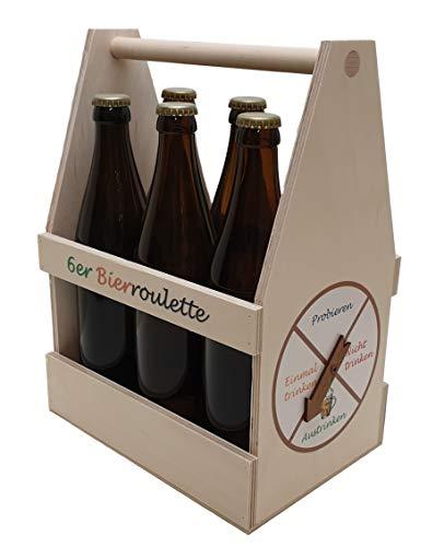 Bierroulette, Partyspiel, Bierträger, Flaschenträger, Männerhandtasche/Sixxpack 6er Bierträger