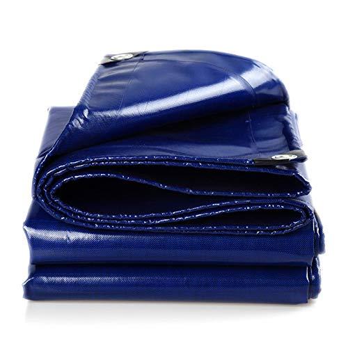 QHGao afdekzeil, blauw, veelzijdig inzetbaar, waterdicht, voor tenten, auto's, boten, onderleggers, afdekplaten tegen roest en uv-straling.