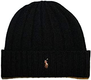 Polo Ralph Lauren Beanie Hat Wool Cap Winter Ski Black