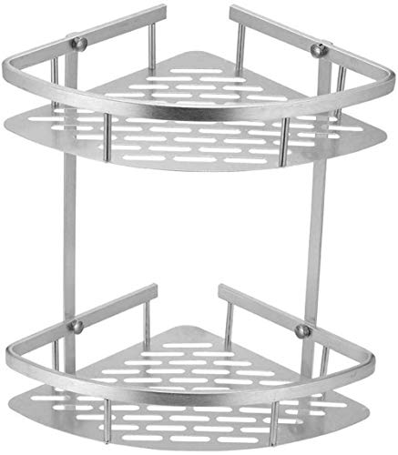 Estante de aluminio para baño, ducha, champú, jabón, estantes para cosméticos, accesorios de baño, organizador de almacenamiento, soporte (color: 2 niveles)