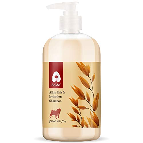 Arf Arf Allay ltch & Irritation Oatmeal Dog Shampoo for Problem Skin - Natural Dog Shampoo for Smelly Dogs - Tearless Formula for Your Dog's Comfort (16.91 oz) - Products Proudly Made in Taiwan