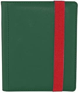 Dex Protection Dex Binder 4 Green Deluxe Portfolio 4-Pocket Velvet-Lined Album Holds 160 Cards Double Sided, Side-Load Binder fits Magic, Pokemon, Yu-Gi-Oh