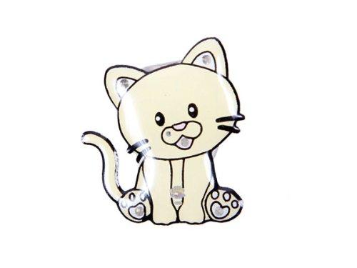 Blinki LED Anstecker Blinky Brosche LED Pin Button viele Motive, wählen:Kätzchen 32