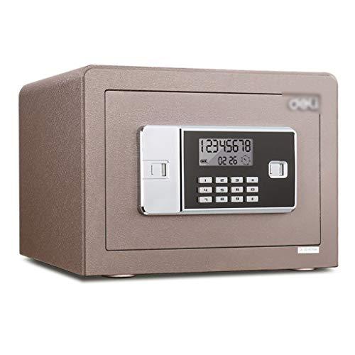 Cajas fuertes Caja Fuerte Con Contraseña Electrónica Caja Fuerte En La Pared Para El Hogar Caja Fuerte Antirrobo En La Oficina Material Totalmente De Acero ( Color : Brown , Size : 35*25*25cm )