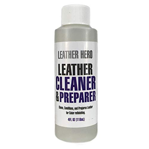 Leather Hero Leather Cleaner - Cleans & Conditions Leather Bags, Couches, Chairs, Shoes, Boots, Purses & More -4oz (Makes 16oz)