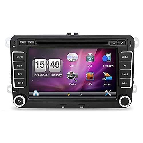 JOYX Wince 6.0 Autoradio Passt für VW Passat/Golf/Skoda/Seat - GPS 2 Din - Rückfahrkamera Canbus KOSTENLOS - 7 Zoll - Unterstützen Bluetooth USB CD/DVD Lenkradsteuerung RDS -Mit 8 GB Kartenkarte