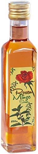 Rosen Minze Sirup aus dem Allgäu   250ml Getränkesirup für Mineral-Wasser