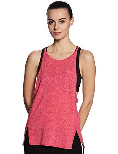 PUMA Damen Dancer Drapey Tank Top, Knockout pink Heather-Stripe, XS