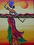 Rompecabezas 1000 Piezas Adultos De Madera Niño Puzzle-Bailando Mujer Africana-Juego Casual De Arte...