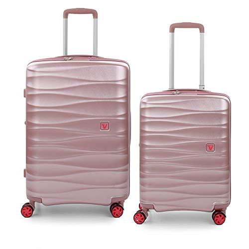 RONCATO Stellar set 2 maletas rígidas expandibles (medio + cabina) Rosa