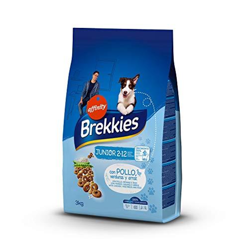 Brekkies Cibo per Cani Mini Junior con Pollo, Ortaggi e Riso - 3 kg - 3000 Gr