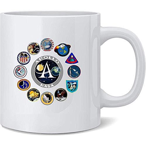 Parches misión Apolo aprobados NASA Taza café cerámica
