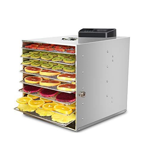 CLING Dörrgerät, 8 Schichten Einstellbar Edelstahltablett, Geräuscharmer Betrieb,Fleisch-, Gemüse- Und Obsttrockner(450W)