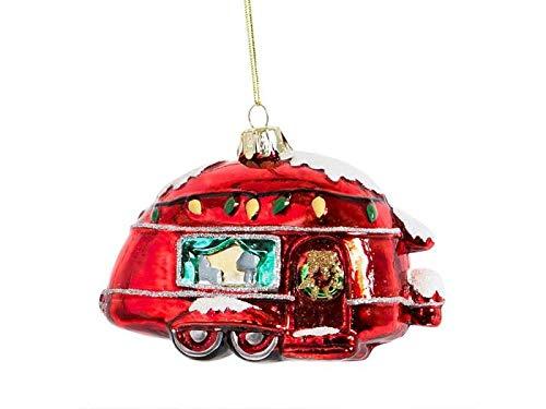 itsisa Baumschmuck US Wohnwagen/Camper - Baumkugel Caravan, Weihnachtsdeko, Christbaumkugel