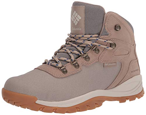 Columbia Men's Newton Ridge LT Waterproof Hiking Boots, Oxford Tan/Royal, 10.5 Regular US