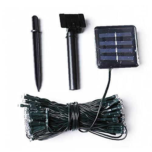 Runfon Solar LED Cadena Luces a Prueba de Agua al Aire Libre Luces de Cadena 24v Secuencia de Hadas 100 Enciende la Bombilla Decorativa para el hogar de la Boda del Partido 12m