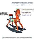 CRAFT HOUSE Wooden Rocking Horses (Orange)