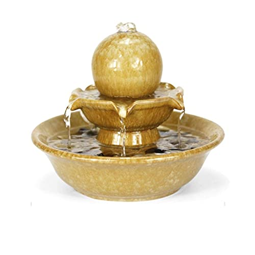 QULONG Fuente de Agua de cerámica para decoración de Interiores, Fuente de...