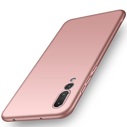ORNARTO Funda Huawei P20 Pro, HW P20 Pro Carcasa [Ultra-Delgado] [Ligera] Mate Anti-Arañazos y Antideslizante Alta Calidad Protectora Sedoso Caso para Huawei P20 Pro(2018) 6.1' Oro Rosa