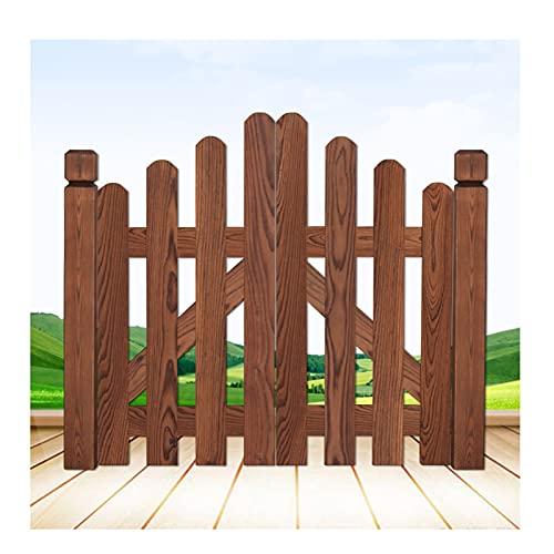 LJIANW Recinzione da Giardino, Porta da Giardino in Legno Carbonizzazione Doppia Porta in Legno Pannello del Cancello di Recinzione per Cortile Domestico Pianta da Giardino Partizione Decorativa