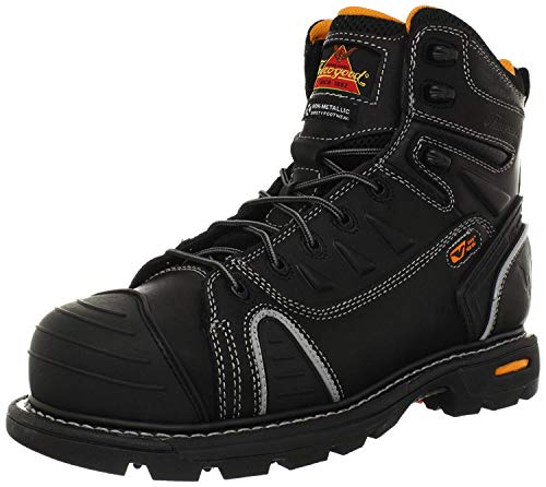 Thorogood 804-6444 Men's GEN-flex2 Series - 6' Cap Toe, Composite Safety Toe Boot, Black - 7 M US
