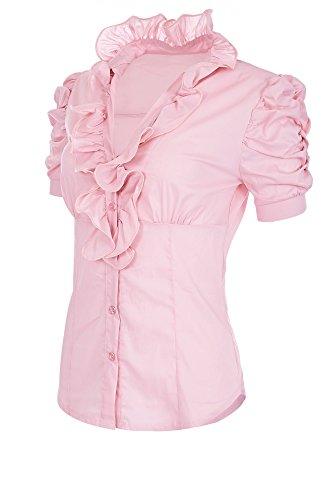 Laeticia Dreams Camicetta da donna a maniche corte S M L XL XXL XXXL, Colore: rosa., 50