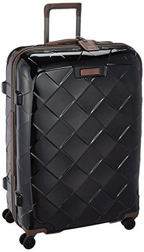 [ストラティック] スーツケース ジッパー レザー&モア 大型 グッドデザイン賞 保証付 100L 75 cm 4.36kg ブラック