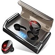 【最先端Bluetooth5.0+EDRが搭載】Bluetooth イヤホン IPX7完全防水 95時間連続駆動 Hi-Fi高音質 3Dステレオサウンド CVC8.0ノイズキャンセリング&AAC8.0対応 自動ペアリング マイク付き 完全ワイヤレス イヤホン 両耳 左右分離型 タッチ式 マイク内蔵 ブルートゥース イヤホン 日本語音声提示 技適認証済 iPhone&Android対応