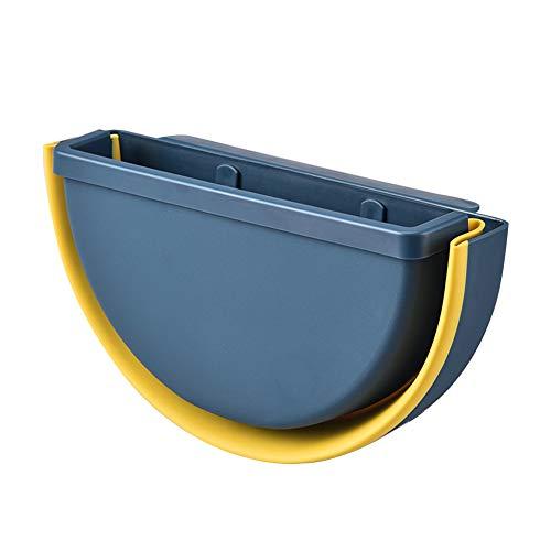 Cubo de basura plegable de la marca,con fijación a la pared,pequeño cubo de basura con 2 soportes colgar para la cocina,el salón,el baño,el coche,la pared