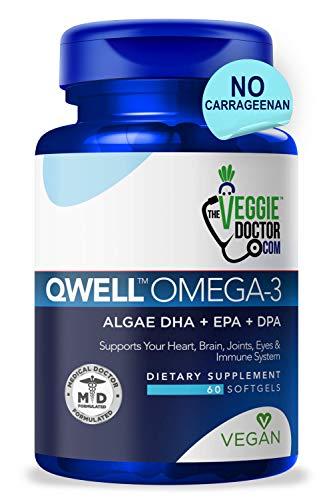 Omega 3 Better Than Fish Oil - Vegan Omega 3 Fatty Acid Supplements - No Carrageenan - Omega 3 Supplement Vegan DHA, DPA, EPA - Algae Omega 3 - Heart, Brain, Joint, Prenatal, Immune System Support