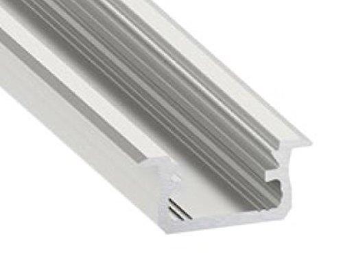 Profil en aluminium p4 Pour LED Bandes BOIS PALISANDER opal cover d/'embouts 1m