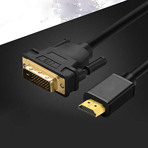ZNLIgHT Kabel & HUB & Adapter | HDMI-stekker naar DVI stekker adapter V-zijkant converter kabel voor HDTV LCD Monitor Black 5 m | Digitaal product