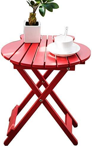 DGHJK Muebles seleccionados/Mesa de Centro Sofá de Madera Mesa Auxiliar Mesa de café Simple Plegable Verde (Color: Azul, Tamaño: 43 * 40 * 20 CM)
