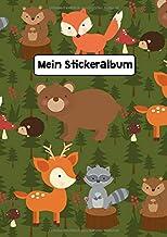 Mein Stickeralbum: Stickeralbum Blanko Waldtiere Stickerbuch Leer zum sammeln DIN A4 35 Seiten (German Edition)