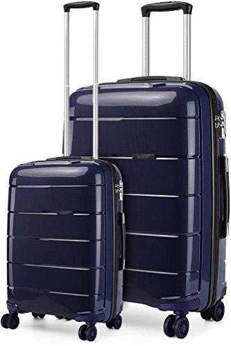 2 sets de bolsas portátiles y grandes maletas rígidas ligeras,Blue