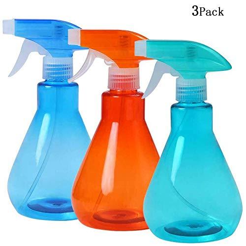 3 Pack 3 Pack 500 ML Vide Flacon pulvérisateur en Plastique Parfum hydratant atomiseur Fine Brume en Plastique Vaporisateur Vide arrosage Cuisine Peut être réutilisé