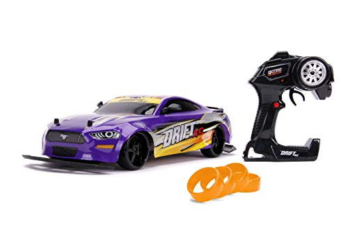 Jada Toys Bigtime Muscle 1:10 2018 Ford Mustang GT Widebody Drift RC Remote Control Car 2.4 GHz, Toys for Kids and Adults