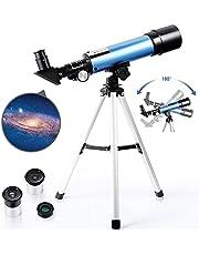 PEALOV Teleskop astronomiczny z lekkim statywem   2 opcje okulary teleskopowe astromatowe okulary, refrakcyjny teleskop dla początkujących amatorów dzieci
