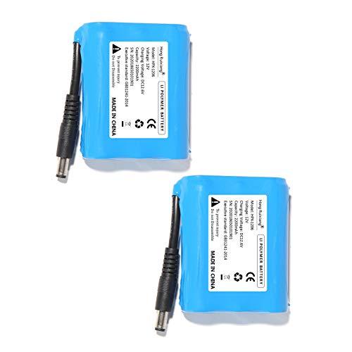 Baterías Recargables de Iones de Litio 12 V 2200 mAh para Guantes térmicos 2 Pilas de polímero de Litio.