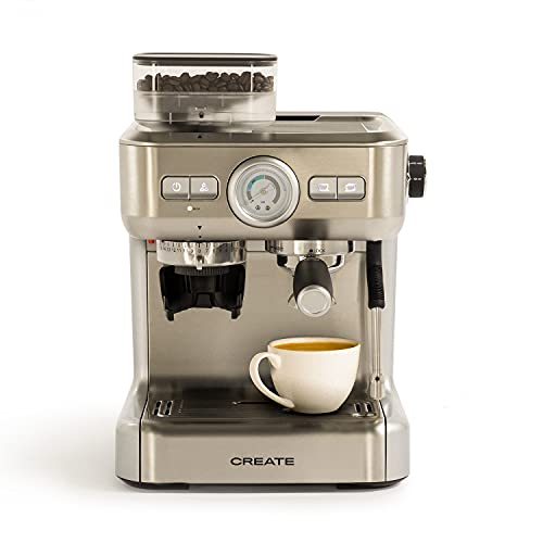 IKOHS THERA Advance - Cafetera Express Automática, Cafetera para Espresso y Cappuccino, 20 Bares, 1620W, Molinillo de Café...