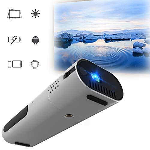 GJZhuan Proyector portátil Mini WiFi Ayuda del proyector Full HD 1080p Nativo Inicio proyectores de Cine en la película Drive Android 7.1 Hi-Fi Bluetooth Altavoz 100ANSI lúmenes de proyección K4